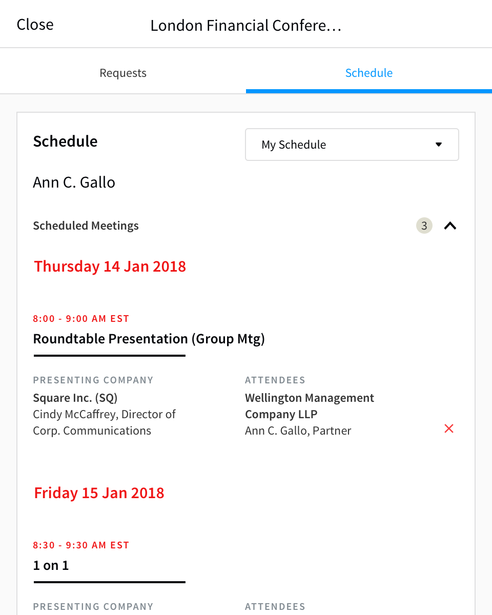 05a Conference – Schedule – My Schedule